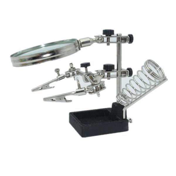 New Tools Multifunctional Soldering IRON Welding Stand Desktop 4X Magnifier LENS Third Helping Hands Solder Allegator Clips
