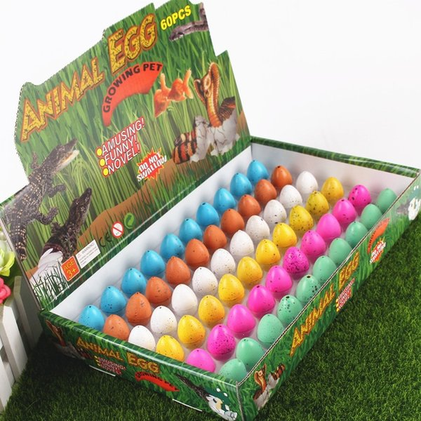 60PCS/Lot Baby New Novelty Games Children Toys Magic Hatching Dinosaur Add Water Inflatable Growing Dinosaur Eggs Kids Educational Toys 445