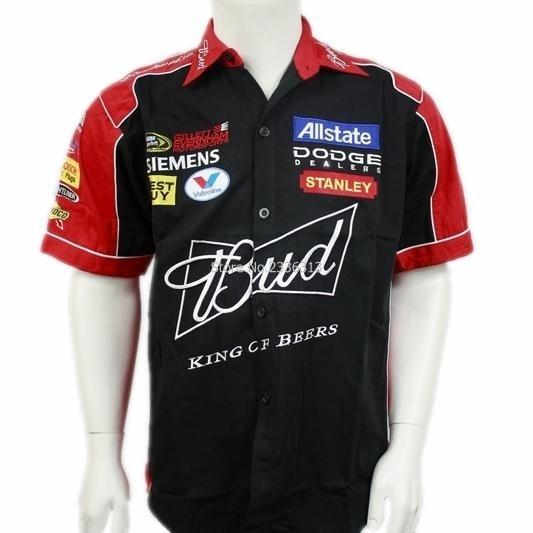 Wholesale- NEW for man summer club team budweiser shirts F1 race casual suits car overalls off road shirts motocross clothes
