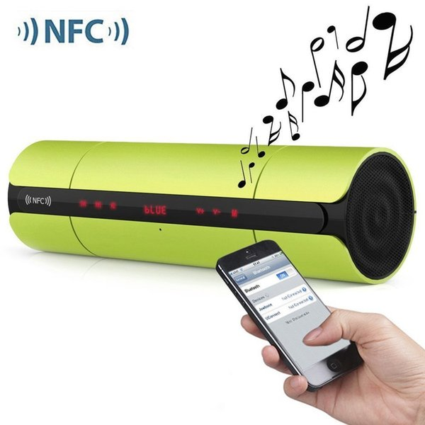 Portable NFC FM HIFI Bluetooth Speaker Wireless Stereo Loudspeakers Super Bass Smart Touch Button Sound Box Handsfree MOQ;20PCS