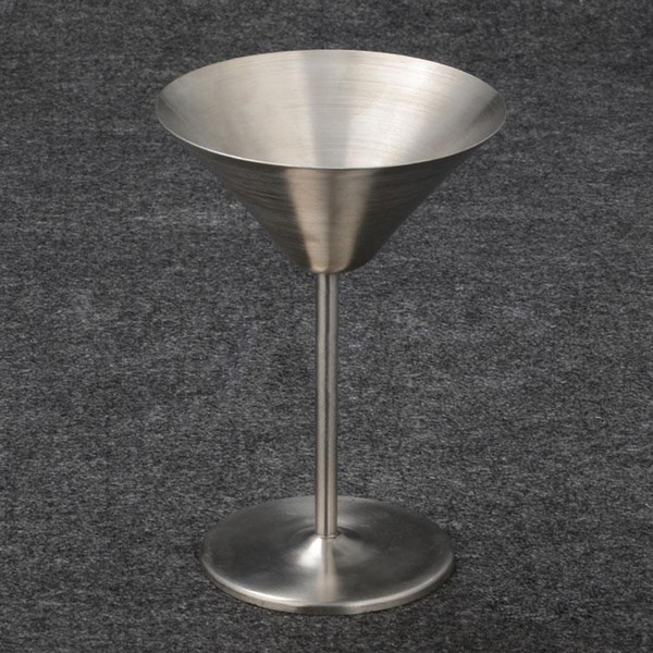 Martini stainless steel wine glasses 220ml red wine cup whiisky alcohol cups cocktail wine goblet party wedding pub Champagne glass (7)