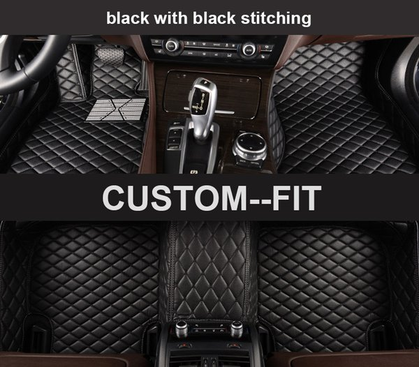 Veeleo Custom-Made 6 Colors Leather Car Mats for Toyota All Series All Weather Waterproof Anti-slip Full Set Auto Floor Mats 3D Carpets