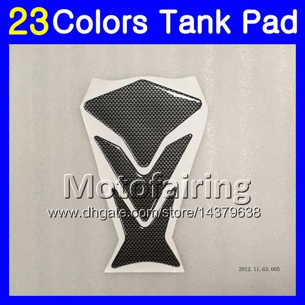 Protector del cojín del tanque del gas de fibra 3D de 23 colores 3D para KAWASAKI NINJA ZX11R 1993 1994 1995 ZX-11R ZZR1100 ZX11 R 1996 1997 etiqueta engomada del casquillo del tanque 3D