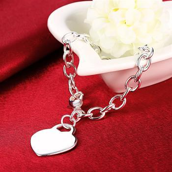 top popular Wholesale - Retail lowest price Christmas gift, free shipping, new 925 silver fashion Bracelet B268 2019