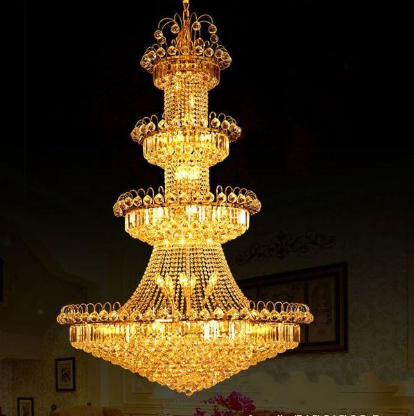 LLFA1506 Free shipping Luxury villa living room chandelier crystal chandelier modern minimalist chandelier light long double staircase