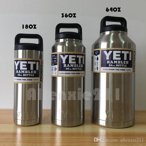 Yeti Rambler Sale >> Hot Sale Yeti Rambler Bottle 18oz 36oz 64oz Rambler Colster Insulated Stainless Steel Cup Mug Drink Holder Insulated Koozie Stainless Steel Unique