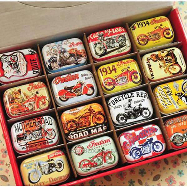 Американский стиль Mini Diy Tin Box Vintage Handmade Small Metal Tins Box Box Organizer Pill Tea Coin Case Container 32pcs / lot