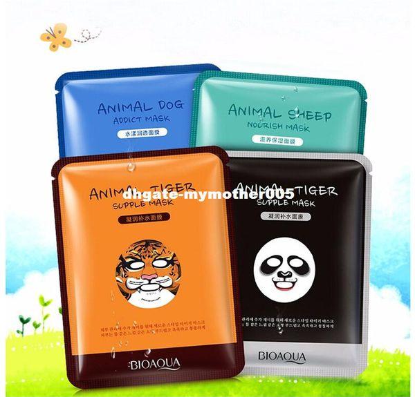 Brand Skin Care Sheep/Panda/Dog/Tiger Packing Facial Mask 30g*4pcs Moisturizing Oil Control Cute Animal Face Masks