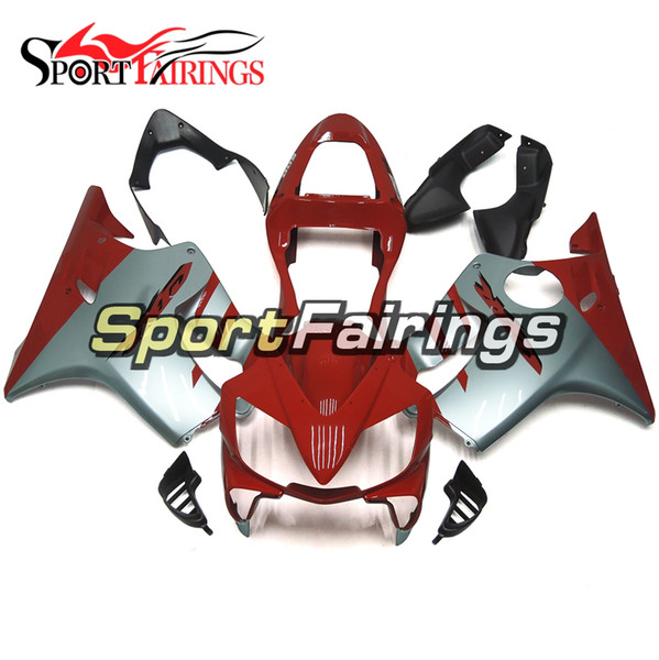 Motorcycles Plastics ABS Injection Complete Fairing Kits For Honda CBR600 F4i 2001 2002 2003 Year 01 02 03 Bodywork Red Grey Free Gifts