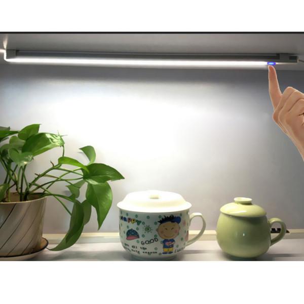 Wholesale- 6W 21LED USB Touch Sensor Dimmable LED Bar Lamp For Bedroom Bedside Closet Cabinet Bathroom Light Pure Warm White DC 5V
