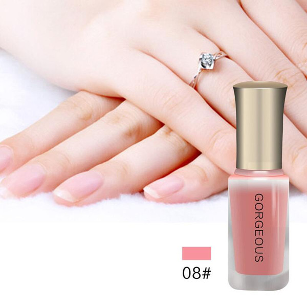 top popular Wholesale Nude Series Translucent Nail Polish Like Jelly Nail Lacquer 10 Colors Long Lasting Enamel Paint 10ml 2021