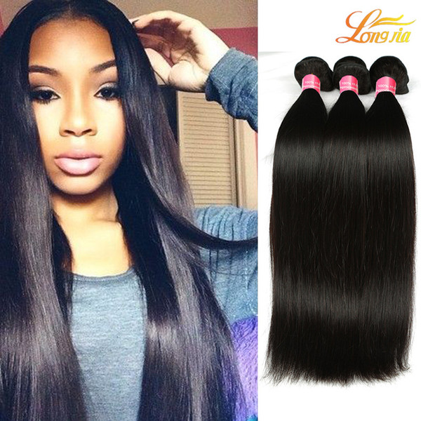 Factory Grade 7A Brazilian Human Straight Hair Weave Bundles Virgin Human Hair Extension Natural Color Can Be Dyed Machine Double Weft