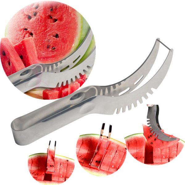 Sandía Slicer Pelador de frutas de acero inoxidable Útil Utensilio de cocina inteligente 200 unids Cuchillo de la rebanada cuchillo de la fruta IC561