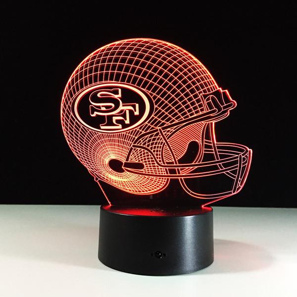 Toque LED aceitunas de mesa lámpara de la bola del casquillo SF Casco habitación de los niños de 7 colores de luz Night 3D Día de San Valentín regalo de cumpleaños