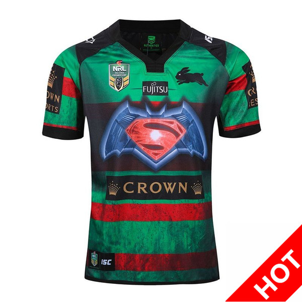 Top Thailand quality jerseys 16 17 South Sydney rabbit NRL rugby jersey 2017 Australia South Sydney hare Rugby Shirts S-3XL