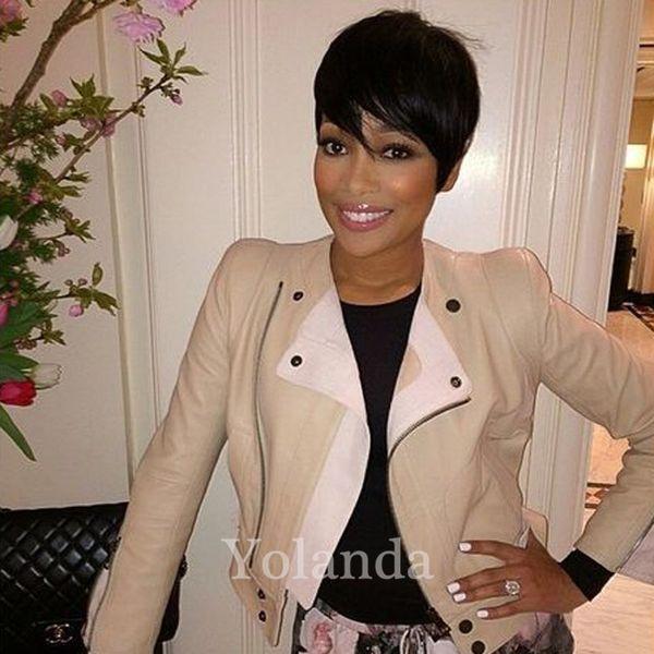 Human Natural Brazilian Human Hair Wigs Cheap Short Glueless Wig For Black Women Celebrity Real Human Hair Short Cut Wigs