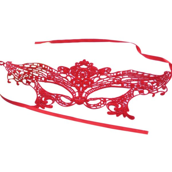 Wholesale-New Red/Pink Sexy Elegant Eye Face Mask Masquerade Ball Carnival Fancy Party dress up mask for Girl Halloween&Christmas supply