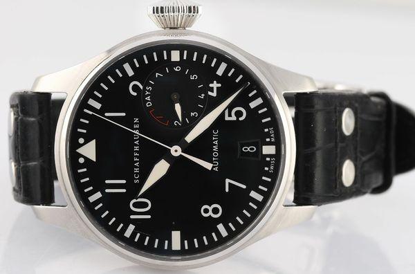 Envío gratis AAA Relojes de pulsera de calidad superior IW500912 7 días automático mecánico Power Reserve Mens Watch Relojes de pulsera de cuero negro de los hombres
