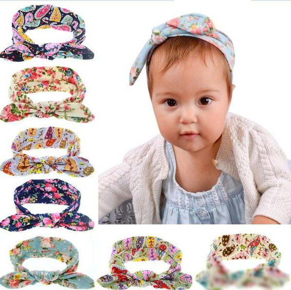Multicolor Cotton Head Band Turban Headband Knot Rabbit For Baby Bow Hairband