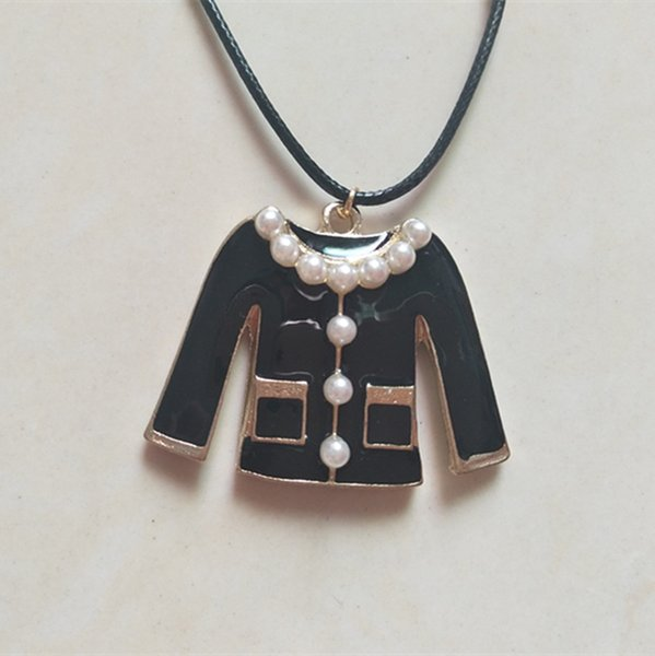 Cute Clothes Drop Oil Charms Enamel Charms Alloy Pendant Necklace for Women Lady Fashion Clothing Necklaces Jewelry Accessories