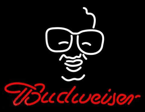 "Budweiser Skull Face Neon Sign Handmade Custom Real Glass Tube Store Beer Bar KTV Club Party Advertising Display Art Neon Signs 17""X14"""