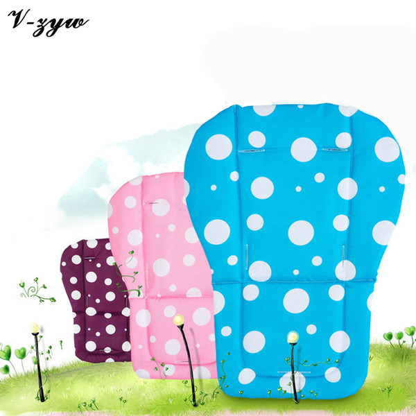 Wholesale- Candy Color Cotton Baby Carriage Stroller Accessories Seat Cushion Infant Dot Pram Pad Child Lunch Chair Cushion SC001