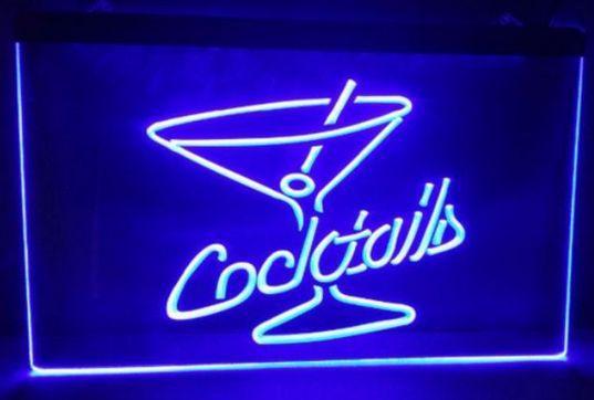 Kokteyller Rum Şarap Salonu bira bar pub kulübü 3d işaretleri led neon işık burcu ev dekor el sanatları