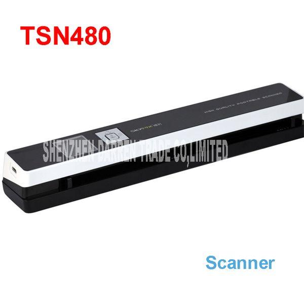 Commercio all'ingrosso- Scanner portatili skypix TSN480 alimentazione HD automatica Certificato di scansione di file ad alta velocità A4 Invia 8G TF card scanner IDcard 1200 DPI