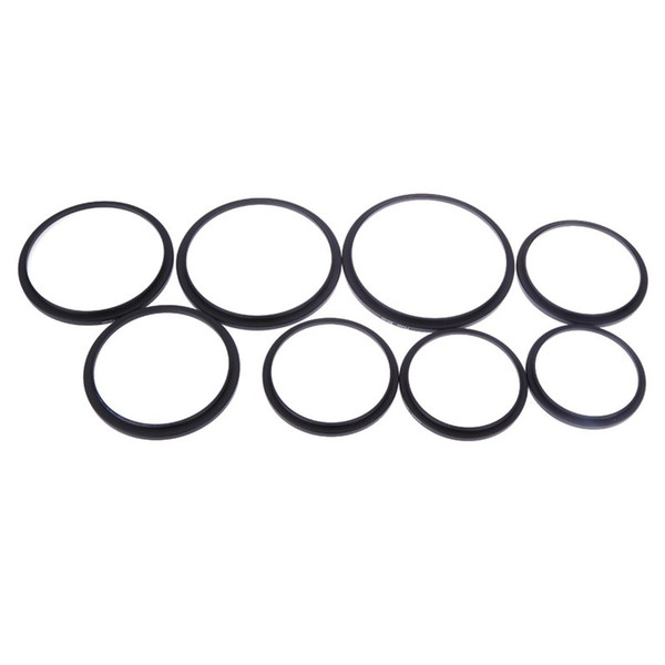Wholesale- 8pcs/Set 49-52-55-58-62-67-72-77-82 mm Metal Step Up Rings Camera Lens Adapter Filter Set 8 Kind Lens to Accessory
