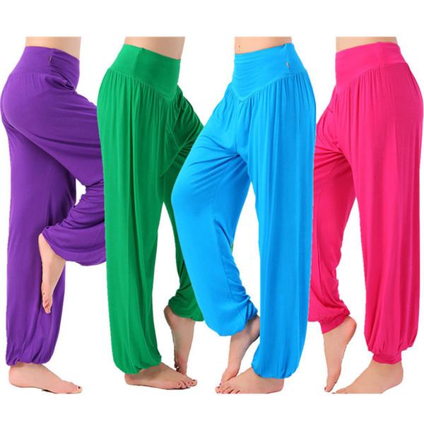codice promozionale c21b4 f443d Acquista Pantaloni Da Donna Danza Del Ventre Yoga Pantaloni Donna ...