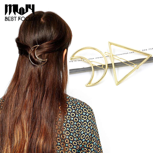MLJY 2016 New Brand Hairpins Triangle Moon Hair Pin Jewelry Lip Round Hair Clip For Women Barrettes Head Accessories 24pcs/lot
