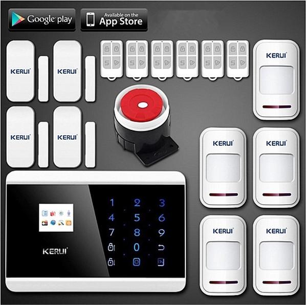 LS111-Quad 4 Banda ios android APP controle LCD Teclado de Toque Inteligente Sem Fio / com fio GSM PSTN casa de Segurança Sistema de Alarme de Voz Auto Dial