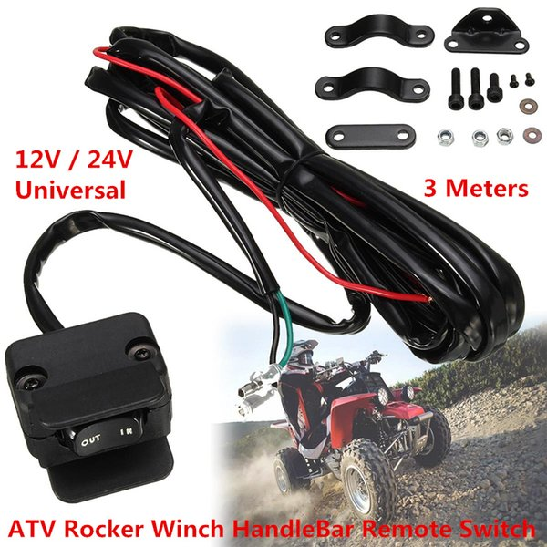 Winch Rocker Switch Handlebar Control Line Warn Accessories Universal 3 Meter For ATV/UTV