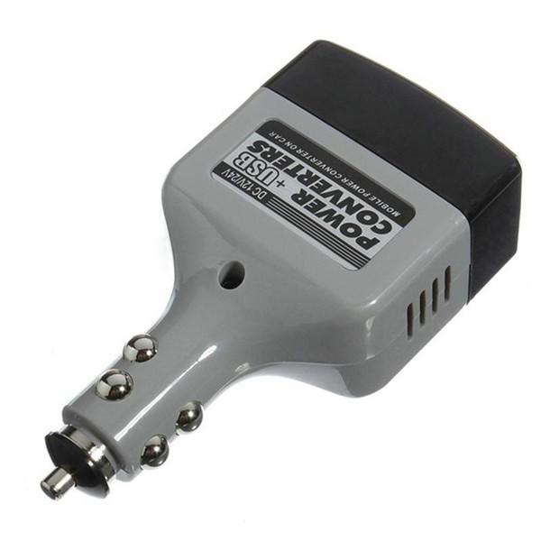 DHL 20 шт. автомобиль USB зарядное устройство инвертор адаптер питания 12 в/14 В до 220 В постоянного тока В переменного тока конвертер штекер