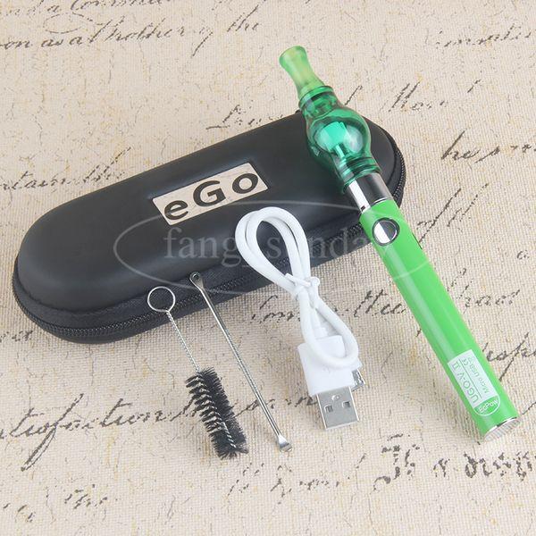 Vapes Glass Globe Vaporizer Pens Evod Box Starter Kits Dab Dome Vapor Tanks Wax eGo T 650 900 1100 MAH E Cigs Batteries