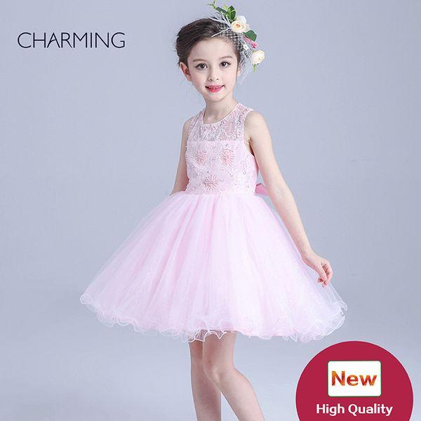 Vestidos de menina de flor rosa china comprar online vestidos de crianças para venda Melhor vestidos de menina de flor de alta qualidade atacado china para meninas para festa