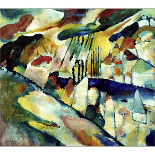 2019 Modern Abstract Art Wassily Kandinsky Oil Paintings Canvas Landscape With Rain Hand Painted Wall Decor From Cherry02016 106 54 Dhgate Com