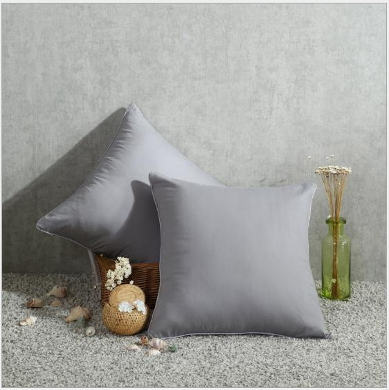High Quality Square Cushion Cover Cotton Pillow Case Pure Color Fabric Material Smooth Touch Icy Feeling Delicate Making High-Class Room