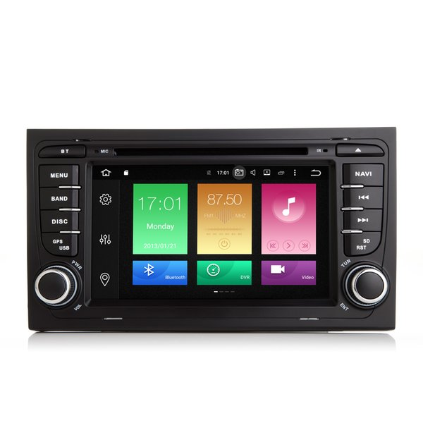 "COIKA 7"" Octa Core Android 8.0 System Auto GPS Navi For Audio A4 S4 RS4 2002-2008 Car DVD Radio 4+32G RAM BT RDS WIFI 4G SWC Phonebook USB"