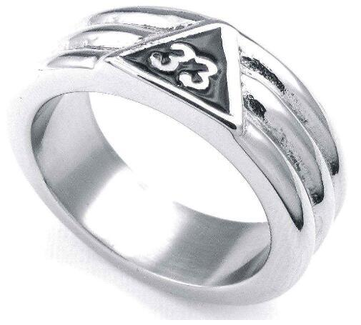 8MM Width Casting 316L Stainless Steel Freemasonry Freemasons Triangle Symbol Ring SZ#8-13 ,Free and Accepted Masons