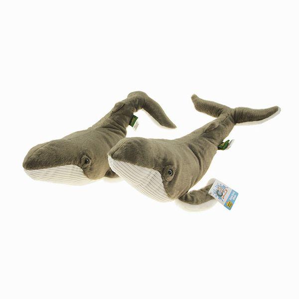 En gros-2 Pcs 38 CM Vente Chaude Super Doux Baleine PP Coton En Peluche Jouet Créatif Poupée D'anniversaire Cadeaux Belle Enfants Farcies Dormir Chambre Jouets