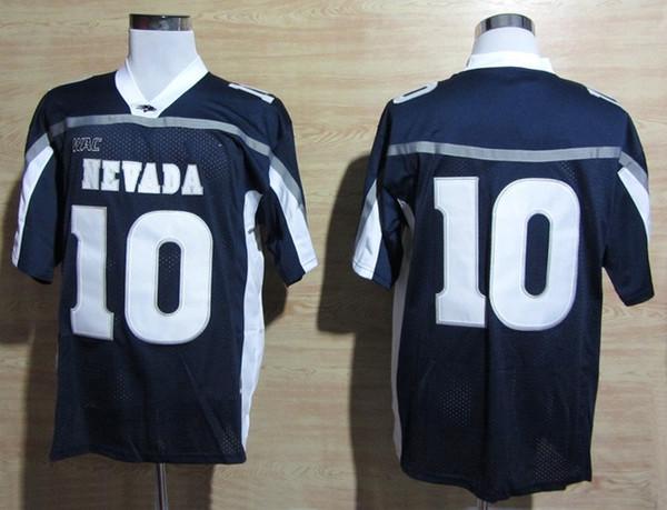 Mens Nevada Wolf Pack Colin Kaepernick College Football Jersey Vintage Home Blue 10 Colin Kaepernick Stitched Football Shirts