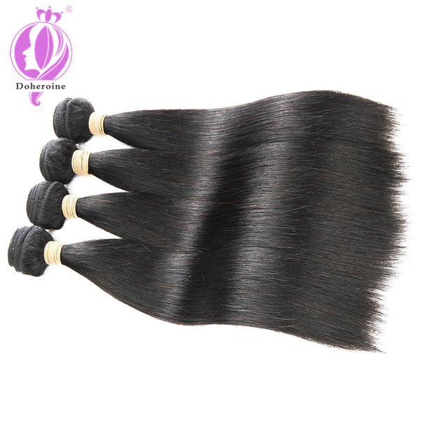 Unprocessed Virgin Brazilian Hair Extensions straight best Quality 8-30 inch Weave Weft Thick Straight Human Hairs