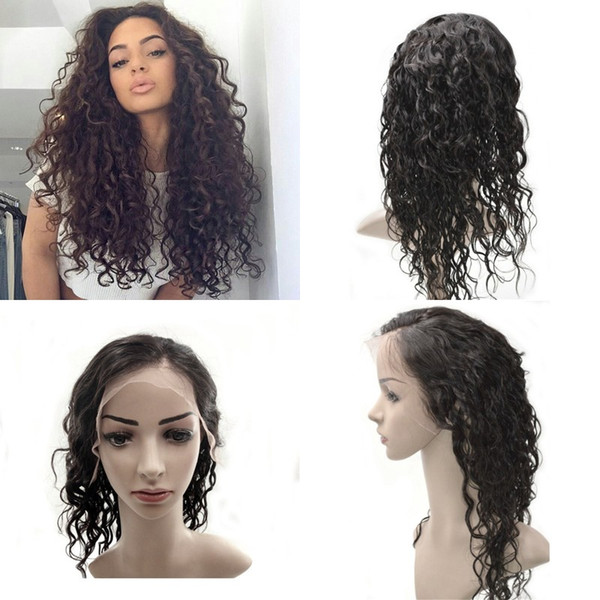 Malaysian Pre Plucked Full lace Human Hair Wigs For Black Women Water Wave Virgin Hair Lace Front Wigs FDSHINE HAIR