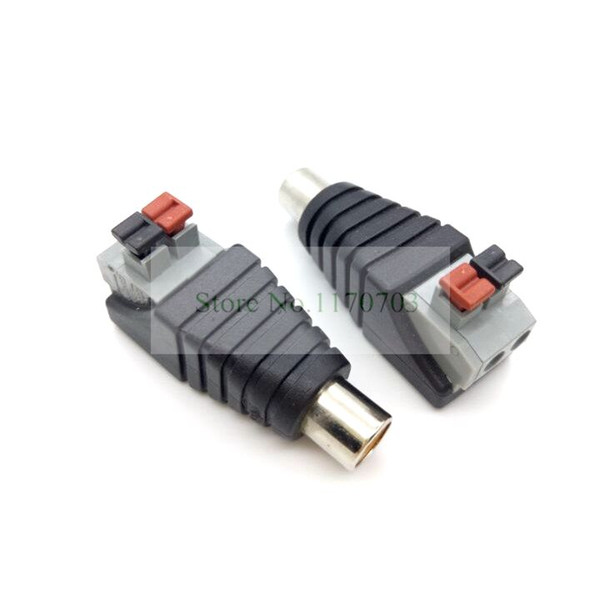 CAT5 To Camera CCTV Video Balun RCA Male Jack AV Screw Terminal Pressed Connector Terminal Block