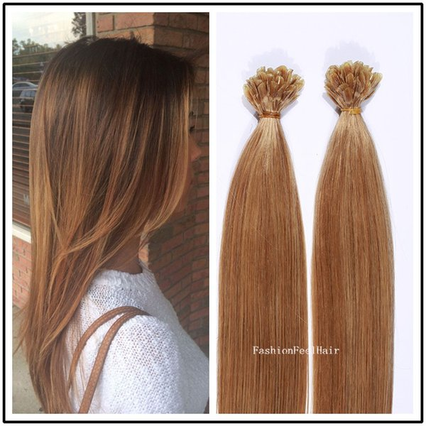 Top Flat Tip Remy Human Hair Extension 100 Human Hair Pre Bonded
