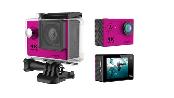 H9 Waterproof Ultra HD 4K Video Action Camera 170 degrees Wide Angle Sports Camera 2-inch Screen 1080p 60fps