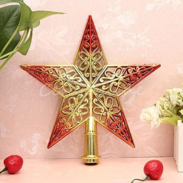 Vente en gros - Top arbre de Noël étoiles topper pour la maison maison topper décoration accessoires de décoration ornement pour le Nouvel An