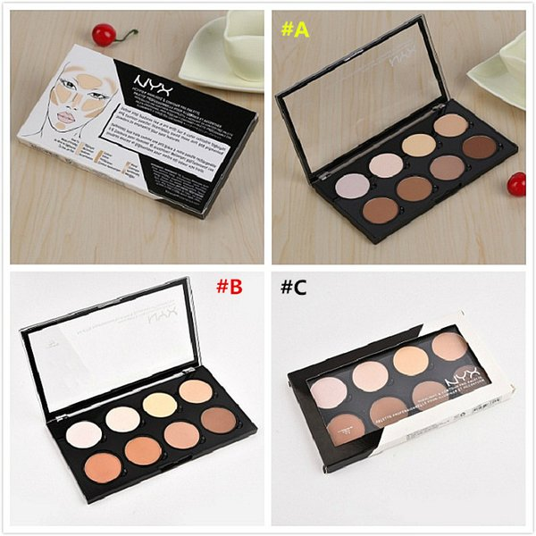 Miglior regalo di Natale NYX Highlight Contour Pro Palette Powder 8 Shadow Foundation Face Palette Full Size in Box Makeup