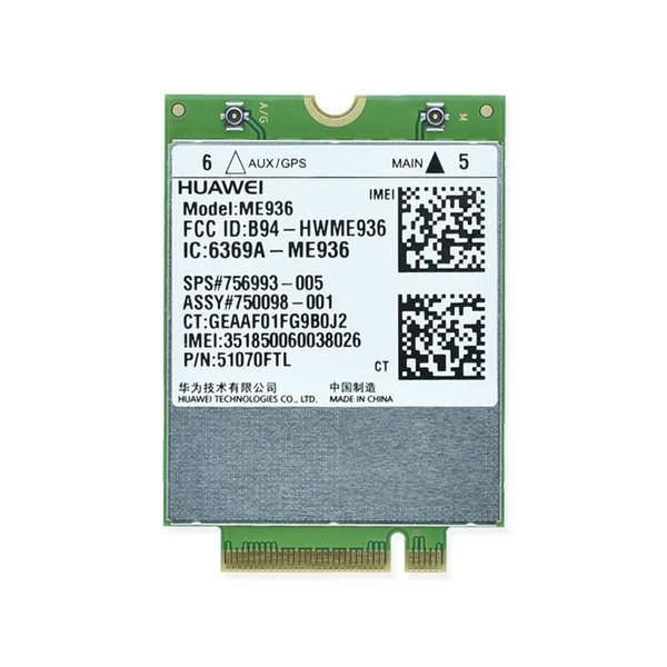 Carte réseau sans fil WWAN PK ME906 - Huawei ME936 4G WCDMA / HSPA + FDD-LTE NGFF M.2
